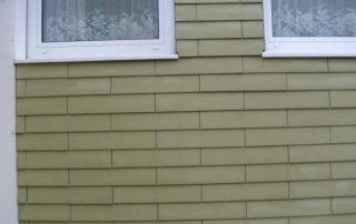Eternit Fassade nach der Reinigung